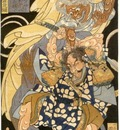 Kuniyoshi Imperial Bodyguard Fighting with a Demon