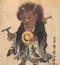 Kyosai Oni in priests robes