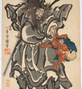 Shohki The Demon Queller by Utagawa Kuniyoshi
