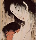 Utamaro Yama uba and Kintaro %28with a Wine Cup%29