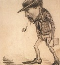 Rufus Croutinelli black crayon on paper