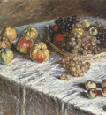 Still Life, Apples and Grapes [1879]