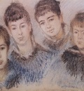 The Four Hoschede Children, Jacques, Suzanne, Blanche and Germaine [1880]