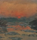 Sunset on the Seine in Winter [1880]