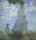 The Walk, Woman with a Parasol [1875]