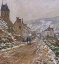 The Road in Vetheuil in Winter [1878]