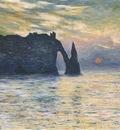 Etretat, Sunset [1883]