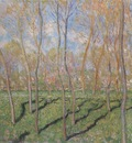 Trees in Winter, View of Bennecourt [1887]