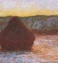 Grainstack, Thaw, Sunset [1890 1891]