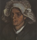 female peasants head, with white coif, nuenen