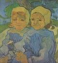 two children, auvers sur oise