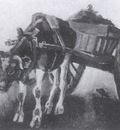 cart with black ox, nuenen