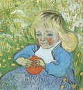 child with orange, auvers sur oise