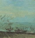 factories viewed of a hillside in the sunset, paris