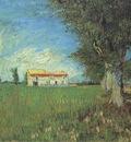 farm house in wheatfield, arles