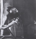 female peasant sewing, nuenen