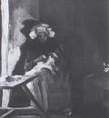 female peasant sewing, nuenen