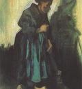female peasant sweeping the floor, nuenen