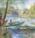 fishing in spring, pont de clichy, paris