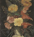 jug with asters, sage and other flowers, paris