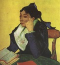 larlesienne madame ginoux with books, arles