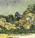 mountains with cottage, saint remy