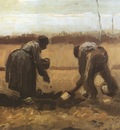 peasants planting potatoes, nuenen