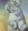 plaster statuette of a male back, paris