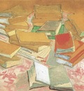 still life, books, arles