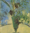 still life, glass with wild flowers, auvers sur oise