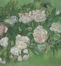 still life, pink roses, auvers sur oise