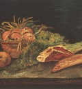 still life with apples, meat and bread, paris