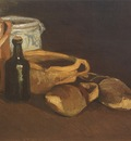 still life with clogs and pots, nuenen
