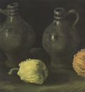 still life with jugs and pumpkins, nuenen
