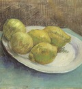 still life with lemons on a plate, paris