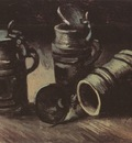 still life with three mugs of beer, nuenen