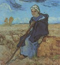 the shepherdess as millet , saint remy