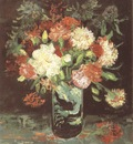 vase with carnations, paris