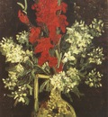 vase with gladioli and carnations, paris