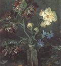 vase with miosotis and peony, paris