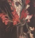 vase with red gladioli, paris