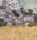 view of auvers with a church in the background, auvers sur oise