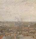 view of paris from montmartre, paris