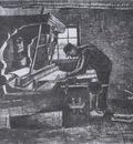 weaver standing in front of a loom, nuenen
