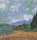 wheatfield with cypresses, saint remy