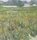 Wheatfield with White House in the Background, Auvers sur Oise