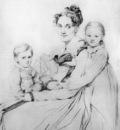 Ingres Madame Johann Gotthard Reinhold born Sophie Amalie Dorothea Wilhelmine Ritter and her two