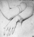 Ingres Study for Princesse Albert de Broglie born Josephine Eleonore Marie Pauline de Galard de B