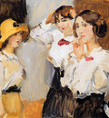 Israels Isaac Midinetes in white blouses Sun