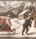 cr Currier Ives ARideToSchool